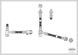 Remslang Nissan Primera P12. Rechtsvoor. 46210-AV00A