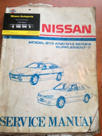 Service Manual ''model B13 and N14 series Supplement IV'' Nissan 100NX B13 / Sunny N14