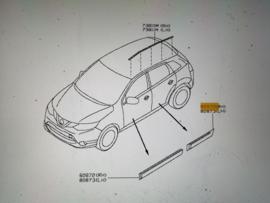 Sierstrip portier rechtsachter Nissan Qashqai J11 82704-4EA0A
