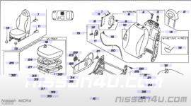 Hendel kantelen bijrijdersstoel Nissan Micra K12 87618-AX406