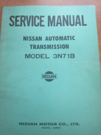 Service manual '' Model 3N71B Automatic Transmission'' SM5E-3N7BG0