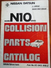 Collision parts catalog model N10 series Nissan Cherry N10 EC-043