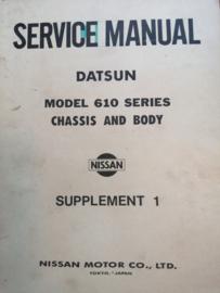 Service manual '' Model 610 series '' Datsun Bluebird 610 SM6E-061SG0