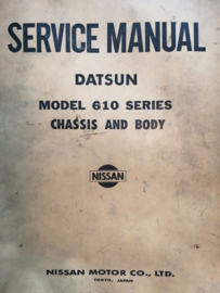 Service manual '' Model 610 series '' Datsun Bluebird 610 SM2E-0610G0