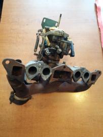 Carburateur / inlaatspruitstuk samenstelling Datsun Cherry F10 FII 100A