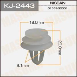 Bevestigingsclip wit Nissan 01553-30001