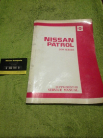 Service manual ''model 260 series Supplement-III''  Nissan Patrol 260