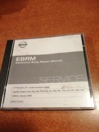 Electronic Body Repair Manual '' Model A33/ D22/ D40/ E11/ K12/ N16/ P12/ R20/ R51/ T30/ V10/ Y61/ Z33/ Z50
