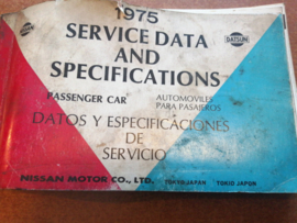 Service Data and Specificaties 1975 SD5Z-P000G0