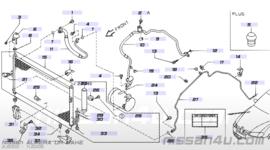 Aircocondensorsteun rechtsonder Nissan 92112-BM400 N16/ P12/ V10
