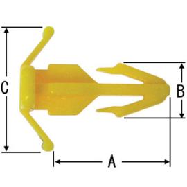 Bevestigingsclip geel Nissan 80897-7J100