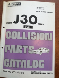 Collision parts catalog model J30 series februari 1989 EC-101-EL