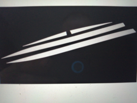 Chromen sierlijstenset Nissan Qashqai J11 KE760-4E50X ( Variant 2: montage midden portieren met chromen opdruk voor)
