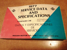 Service Data and Specificaties 1977 SD7Z-P007G0
