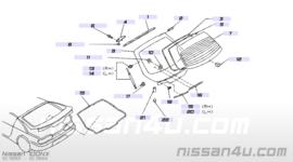 Achterruitrubber Nissan 100NX B13 90382-61Y05
