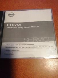 Electronic Body Repair Manual '' Model A33/ D22/ D40/ K12/ N16/ P12/ R20/ R51/ T30/ V10/ Y61/ Z33/ Z50