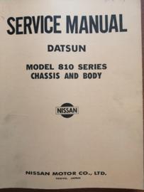 Service manual '' Model 810 series chassis and body '' Datsun Bluebird SM6E-0810G0