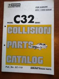 Collision parts catalog model C32 series december 1990 EC-119