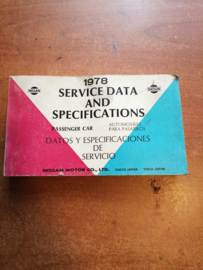 Service Data and Specificaties 1978 SD8Z-P000G0 (010245)