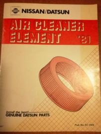 Air cleaner element '81 Nissan/ Datsun EC-046