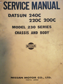 Service Manual '' Model 230 series Chassis and Body '' SM1E-0230G0 Datsun Cedric 230