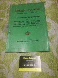 Service bulletin Nissan Datsun volume 105 Datsun 130-series