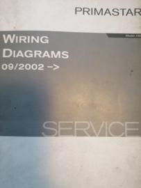 Wiring diagrams Model X83 Nissan Primastar WD2E-0X83E0E