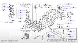 Hitteschild Nissan Terrano2 R20 74750-0F020