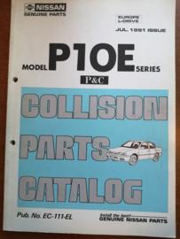 Collision parts catalog model P10E series Nissan Primera P10 EC-111-EL