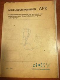 Milieukeuringseisen APK 1991-1992