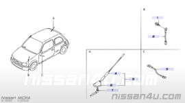 Antenne Nissan Micra K11 28608-6F600