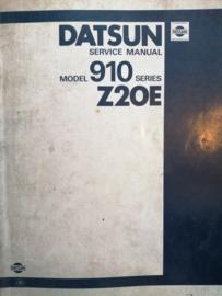 Service manual'' Model 910 series Z20E ''Datsun Bluebird 910 SM2E-910SG0