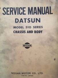 Service manual '' Model 510 series '' Datsun Bluebird 510 29131 (40130020)
