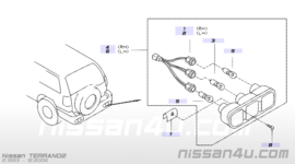 Achterlicht rechts Nissan Terrano2 R20 26550-0X001