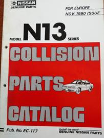 Collision parts catalog model N13 series Nissan Sunny N13 EC-117