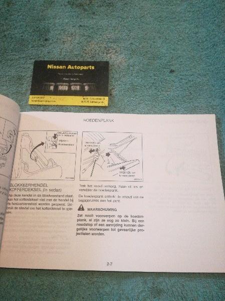 Instructieboekje  U0026 39  U0026 39  Nissan Almera N15 U0026 39  U0026 39  Om6d