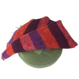Meditatie omslagdoek stripes paars