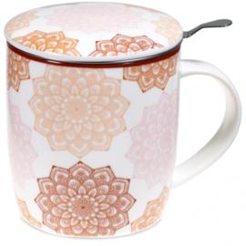 Theemok set mandala rose