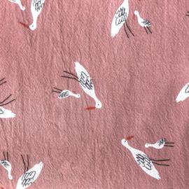 Rustic Cotton Salinas birds pink