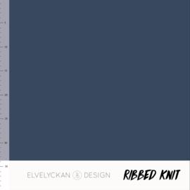 Ribbed Knit - Dark Blue