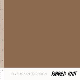Ribbed Knit - Nutmeg