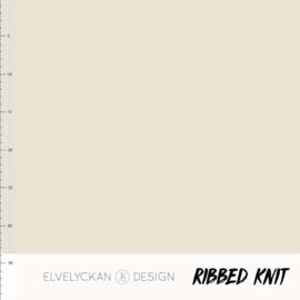 Ribbed Knit - Creme