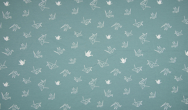 Origami Swan Dusty Mint