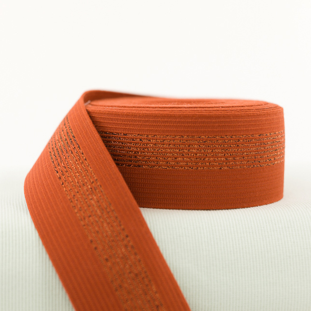 Elastic waistband - Rust with Copper Lines