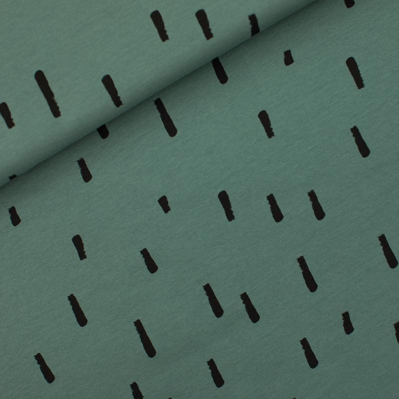Stripes - French Terry - Sagebrush Green