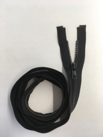 blocktooth zipper 100cm black color