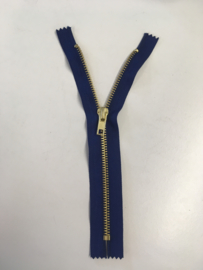 iron zipper 20cm blue color