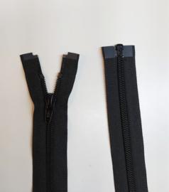 YKK 100cm jas rits zwart nylon/spiraal deelbaar