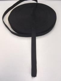 Elastiek zwart 1.5cm per 1 meter
