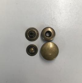 drukknoop bruin 15mm 100sets
